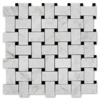 MA293-BWH  Basketweave White Carrara HONED