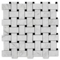 MA293-BWH  Basketweave White Carrara HONED