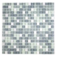 "MA04-S  5/8"" SQUARE GLASS AND MARBLE MOSAIC BLEND"