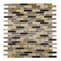 MA18-MB  MINI BRICK GLASS MOSAIC AND MARBLE  BLEND