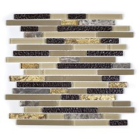 MA18-RB  RANDOM BRICK GLASS MOSAIC AND MARBLE BLEND