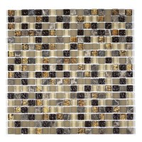"MA18-S  5/8"" SQUARE GLASS MOSAIC AND MARBLE BLEND"