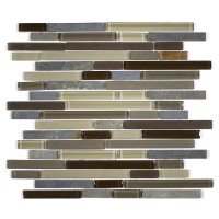 MA20-RB  RANDOM BRICK GLASS AND STONE MOSAIC BLEND