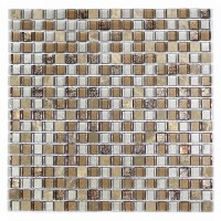 "MA28-S  5/8"" SQUARE GLASS MOSAIC AND MARBLE BLEND"