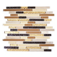 MA07-RB  RANDOM BRICK GLASS AND MARBLE MOSAIC BLEND