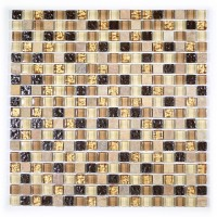 "MA07-S  5/8"" SQUARE GLASS AND MARBLE MOSAIC BLEND"