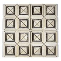 MA220-SQ  Crema Marfil + Emparador Squares with space polished