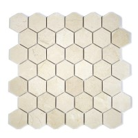 "MA230-HX2  2"" Crema Marfil Polished Hexagon"