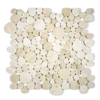 MA242-PB  Pebbles Light & Dark Travertino Polished