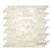 MA250-SP  5/8 Crema Marfil Strips split face without space polished & matt mixed