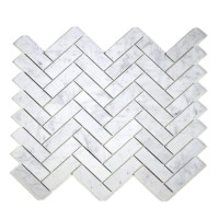 MA294-HBH  Herringbone White Carrara HONED