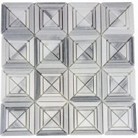 MA221-SQ  Marwa white Squares with space polished