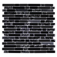 MA61-RB  RANDOM BRICK GLASS AND STONE CRACKLE MOSAIC
