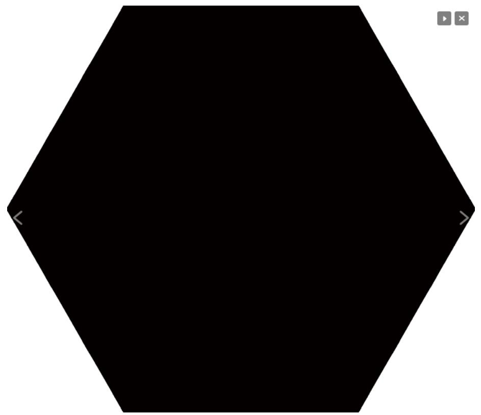 10 x 10 Monocolores Negro anti slip technology porcelain matte finished Hexagon
