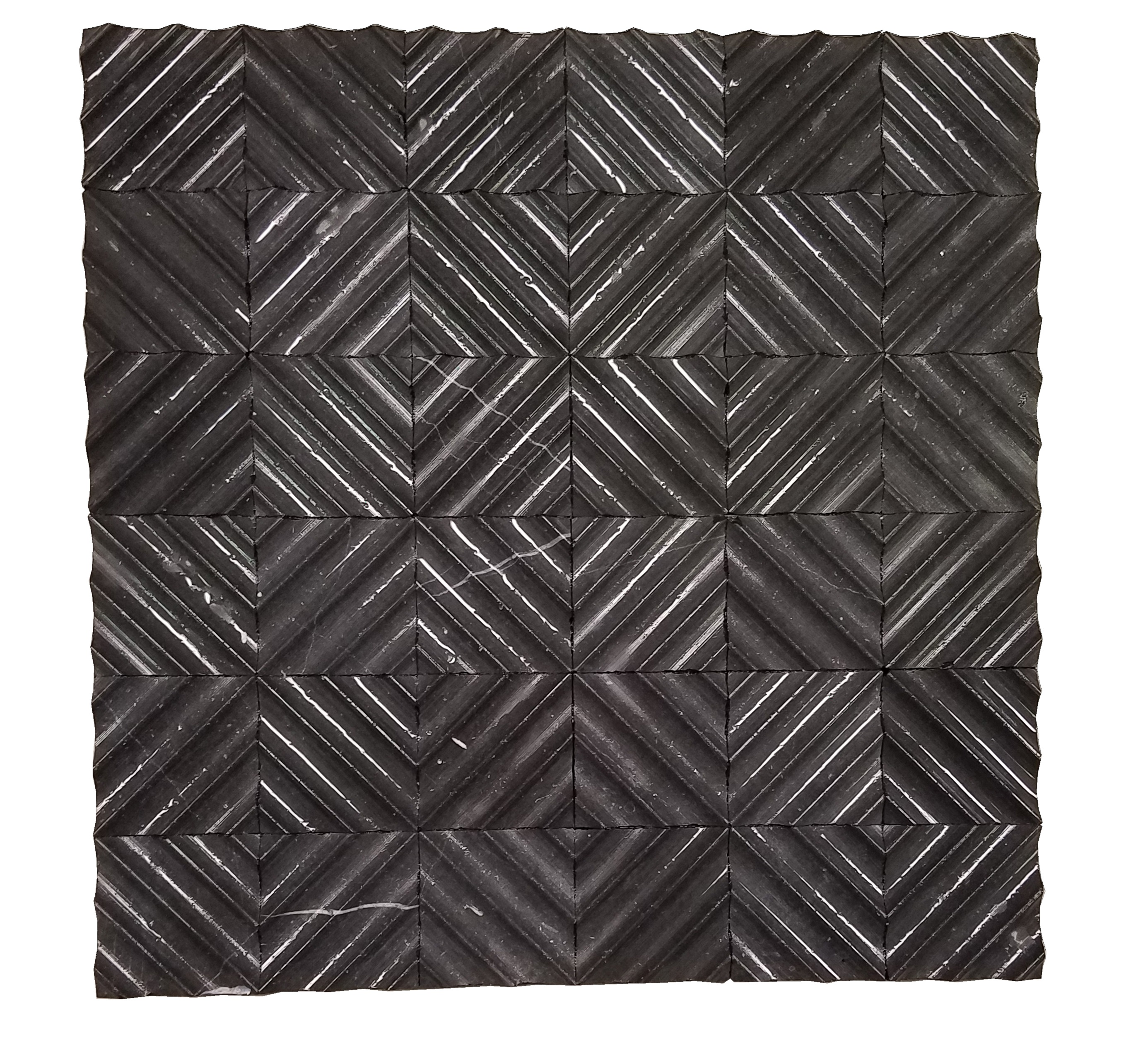 MA228-RQ  Black Marquina Marble Mosaic Honed
