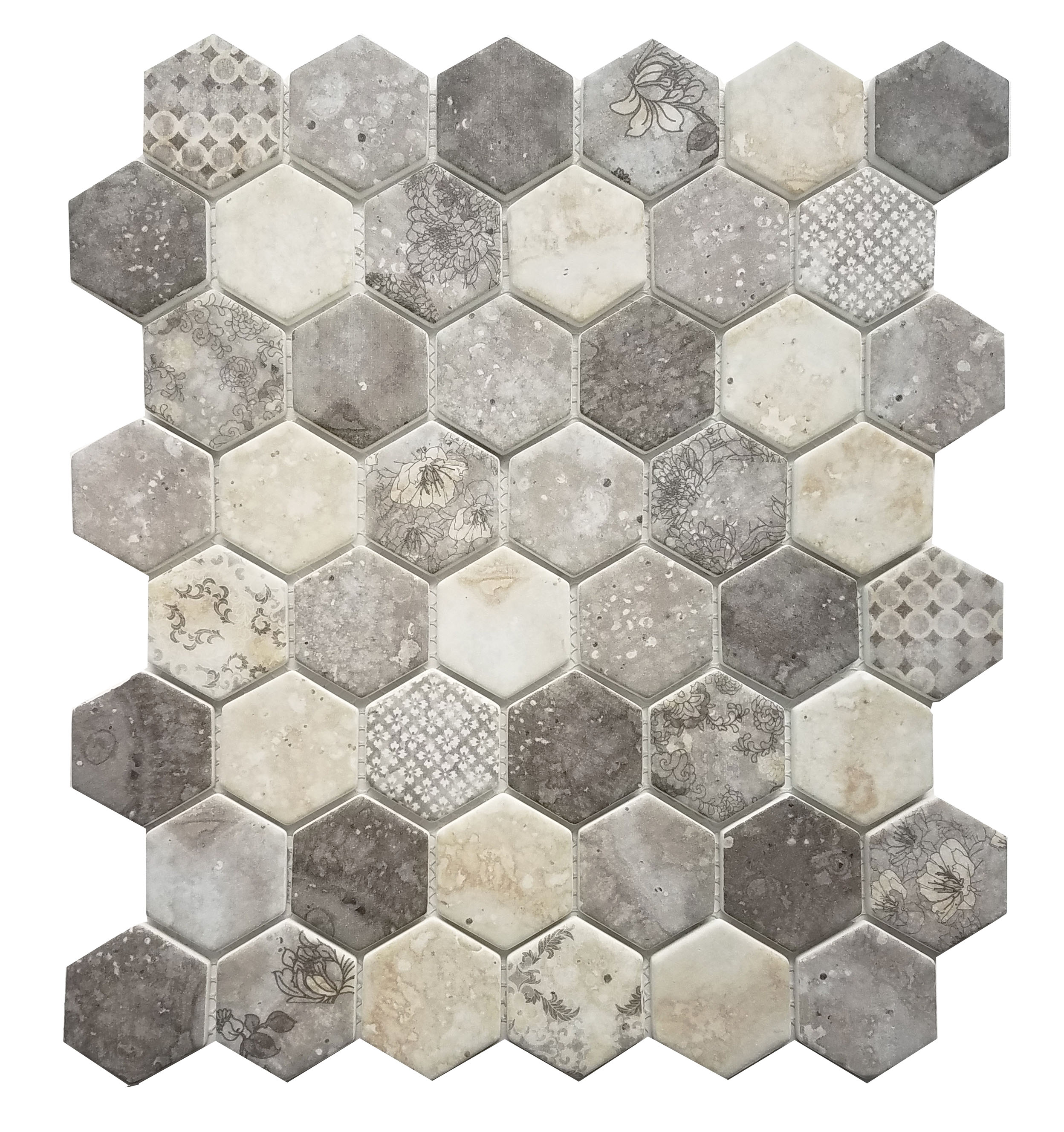 MA102-HX  2 x 2 Hexagon High density recycle glass