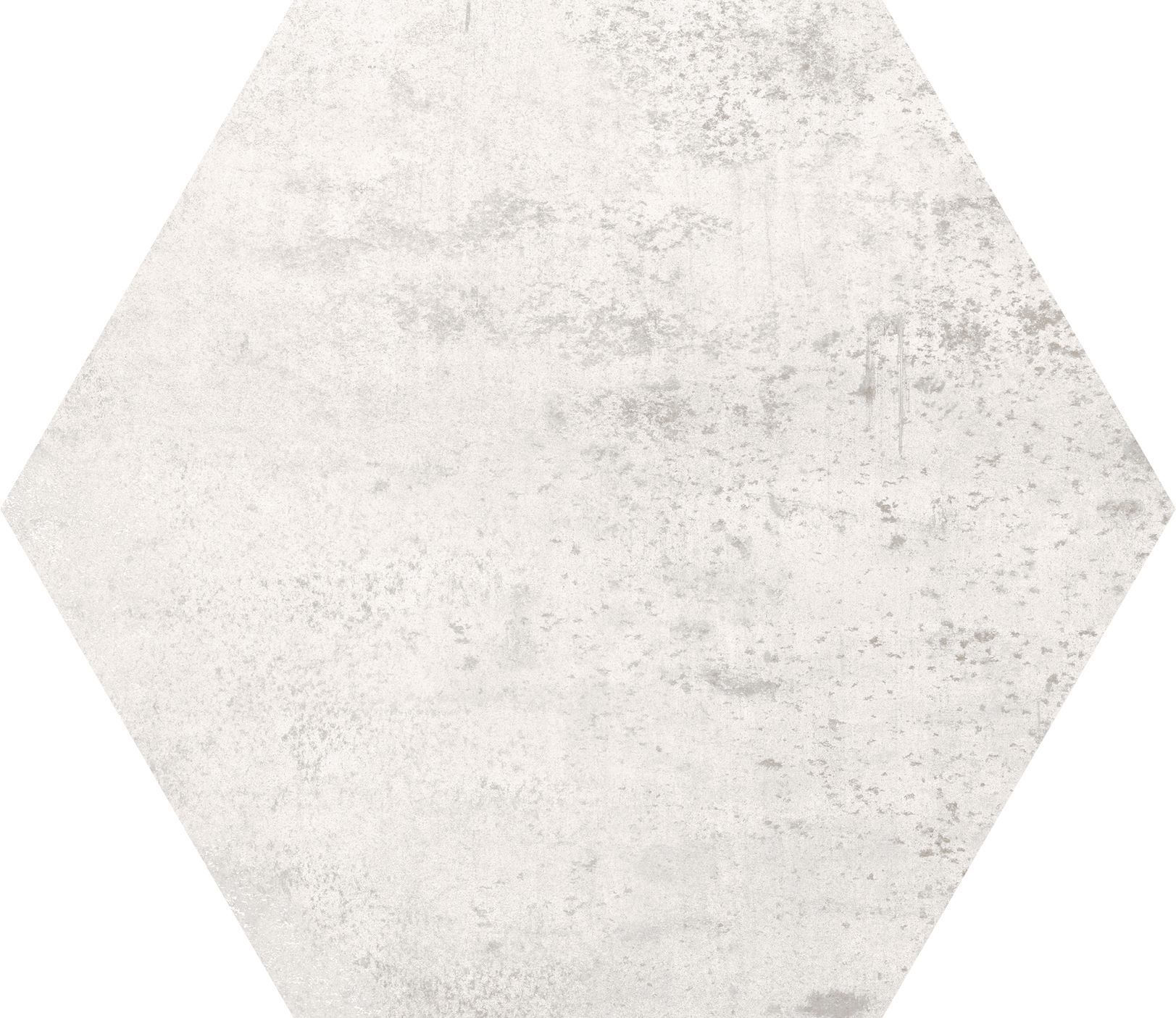 10 x 10 Concrete White Hexagon porcelain tile