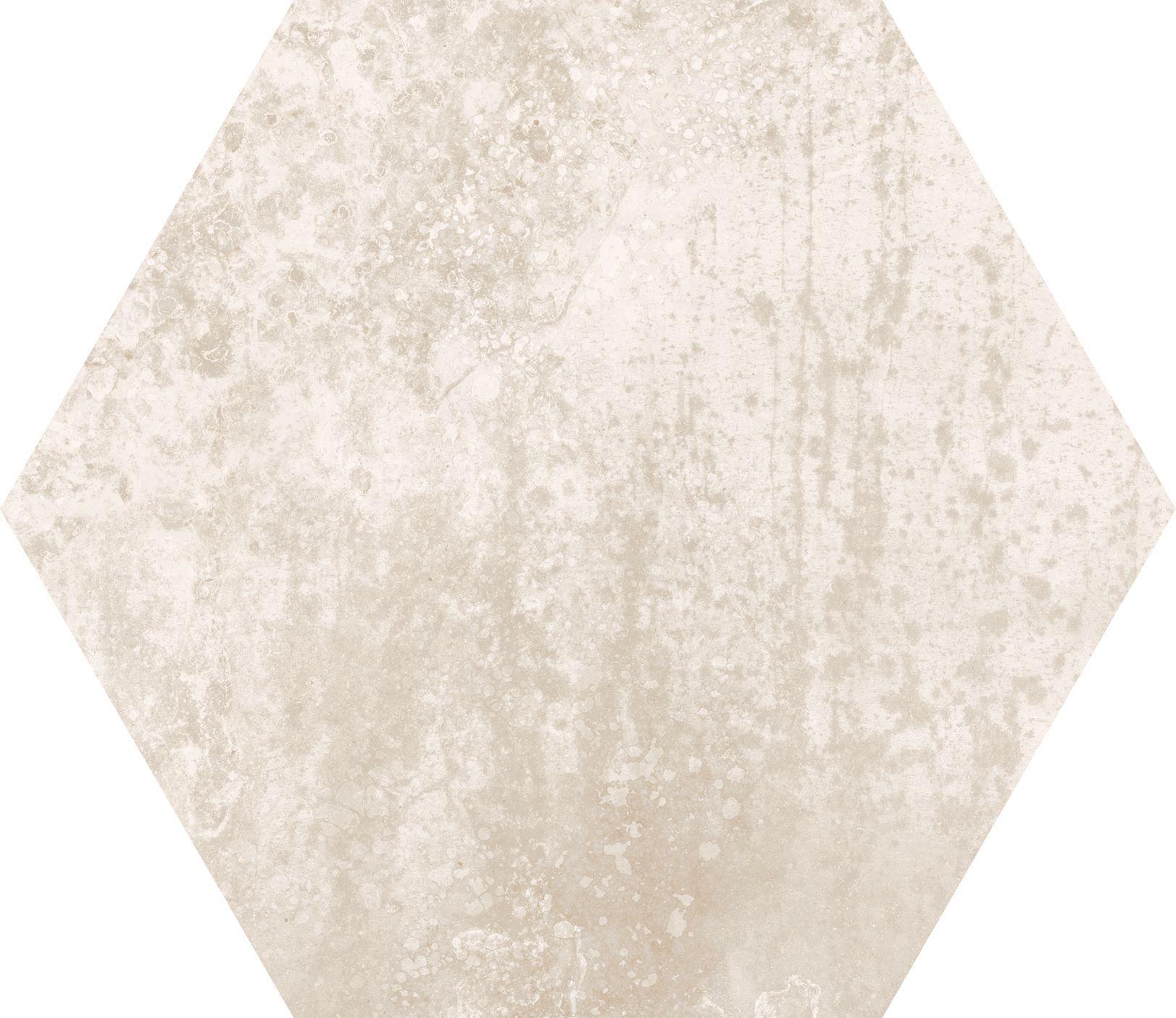 10 x 10 Concrete Almond  Hexagon porcelain tile