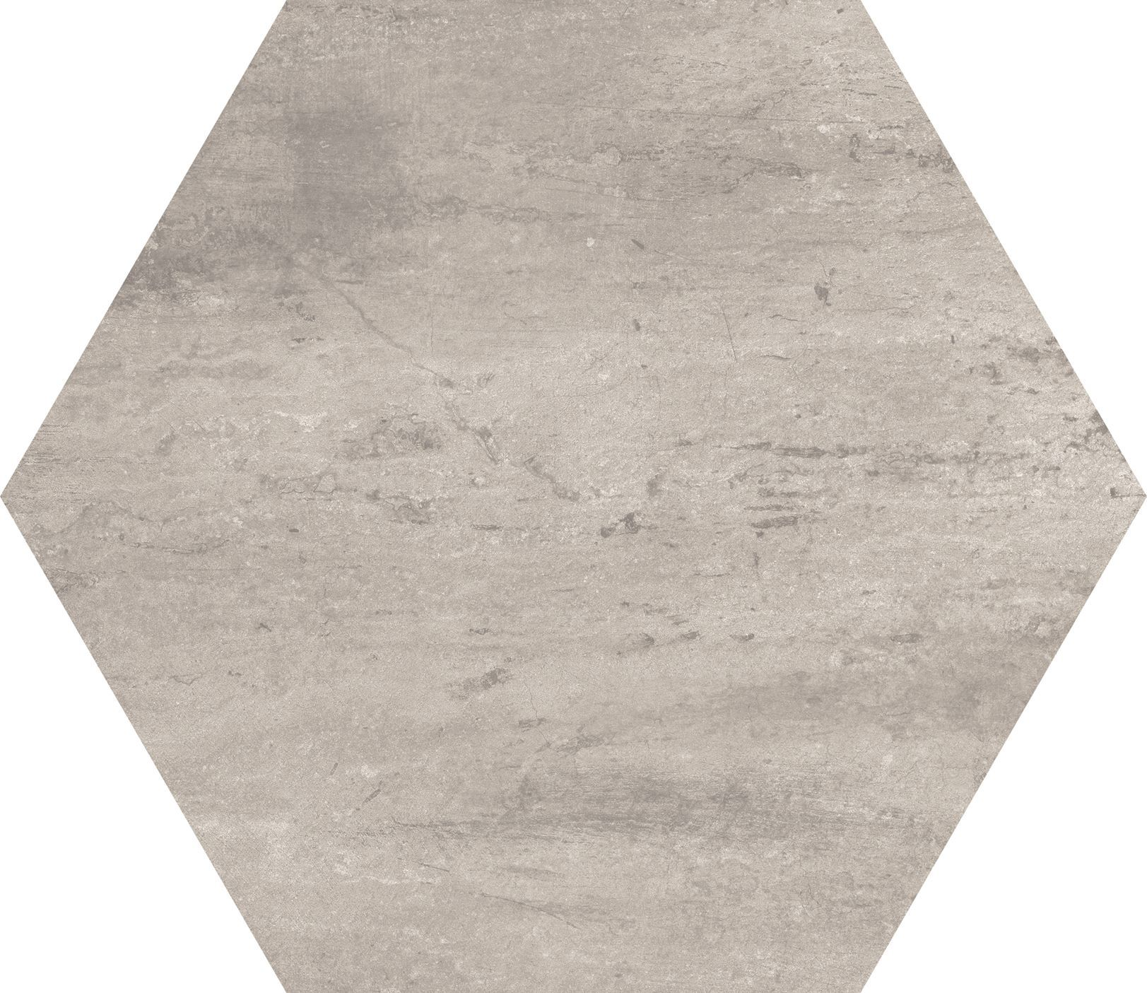 10 x 10 Concrete Moka Hexagon porcelain tile