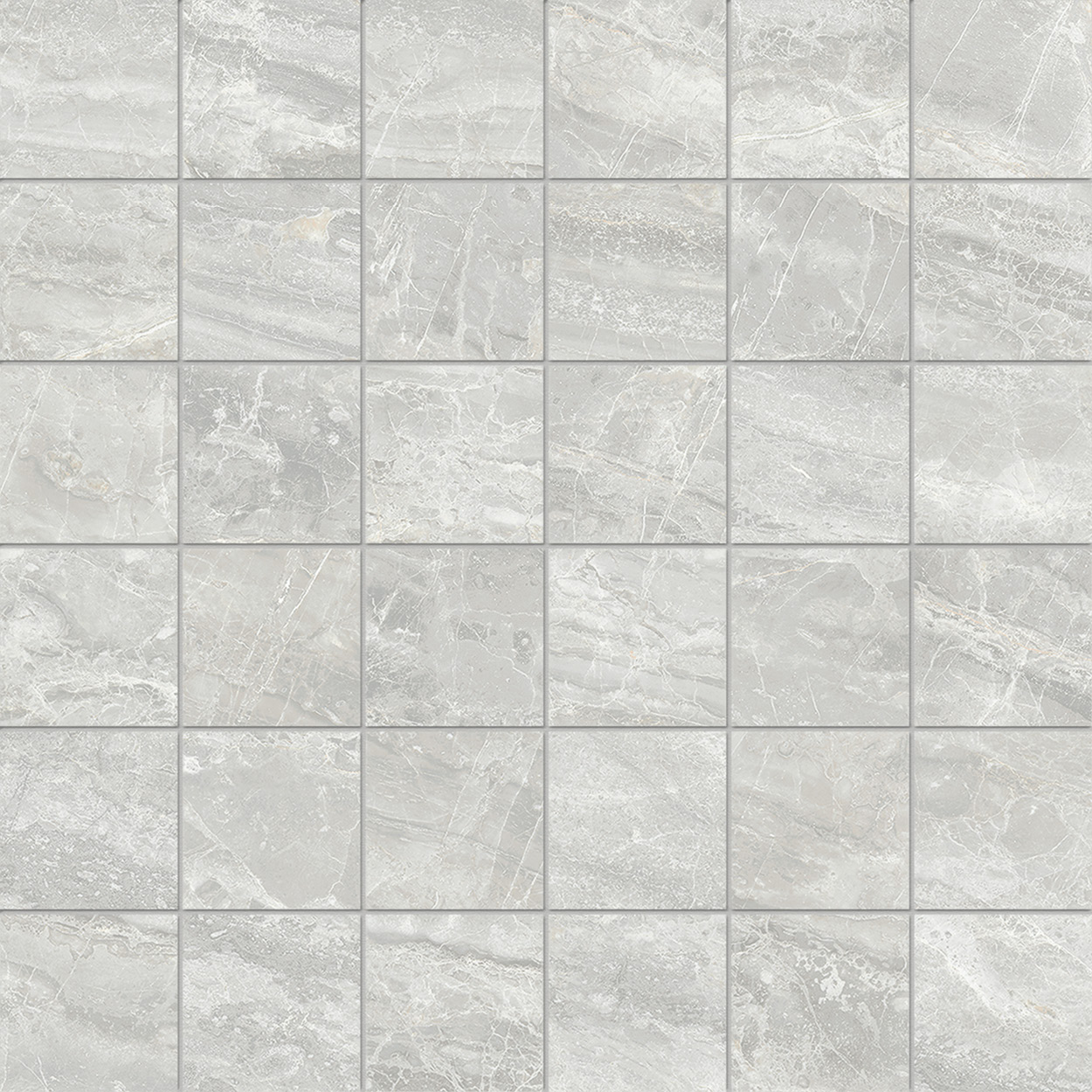 2 x 2 Cosmic Grey POLISHED porcelain mosaic