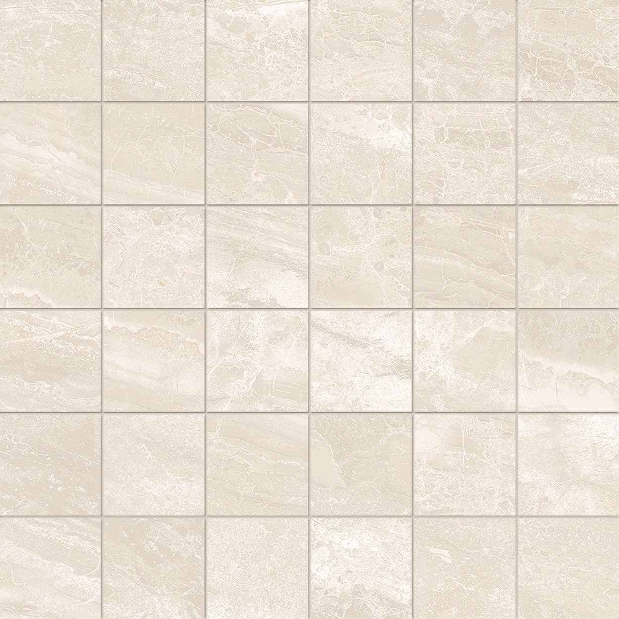 2 x 2 Cosmic Ivory POLISHED porcelain mosaic