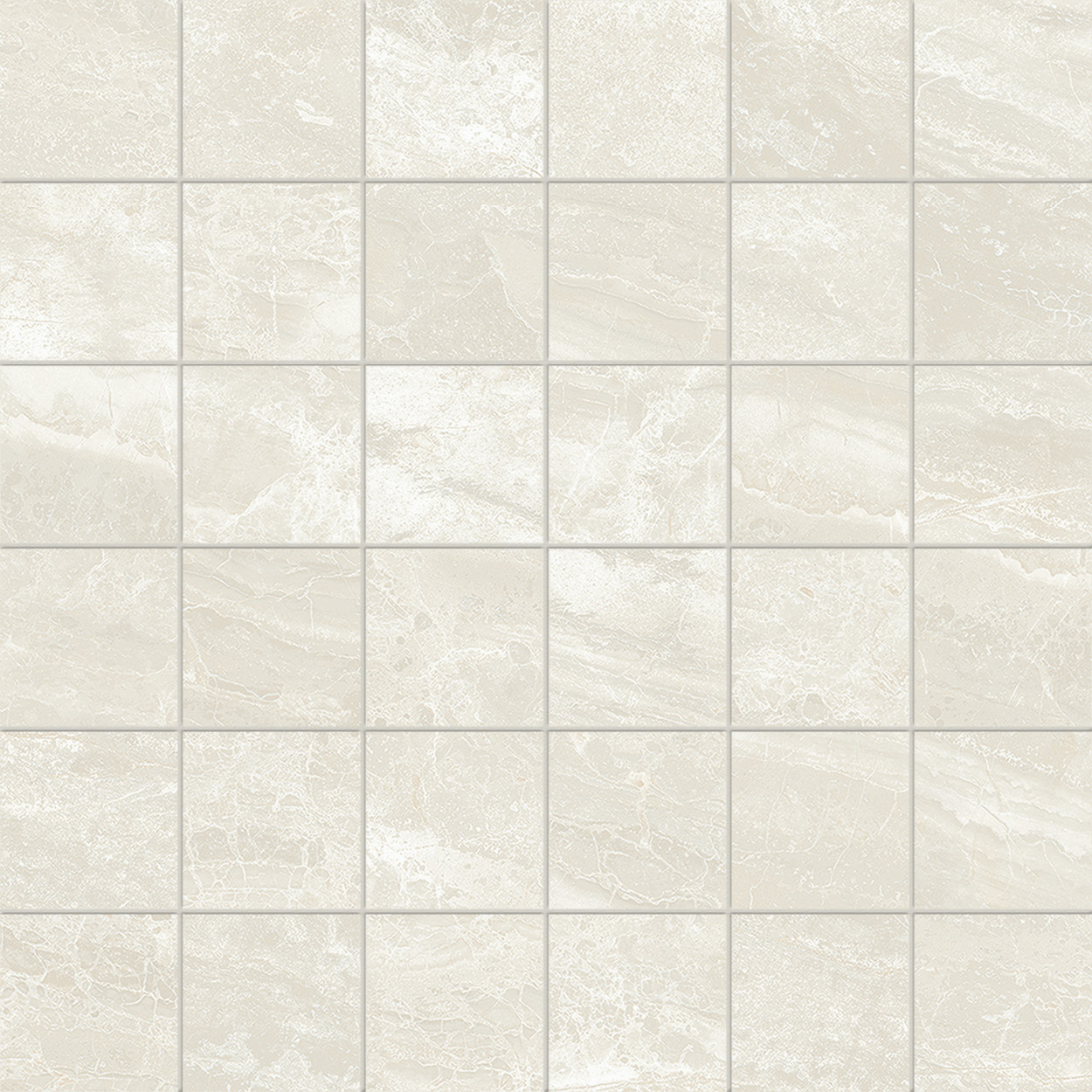 2 x 2 Cosmic White POLISHED porcelain mosaic