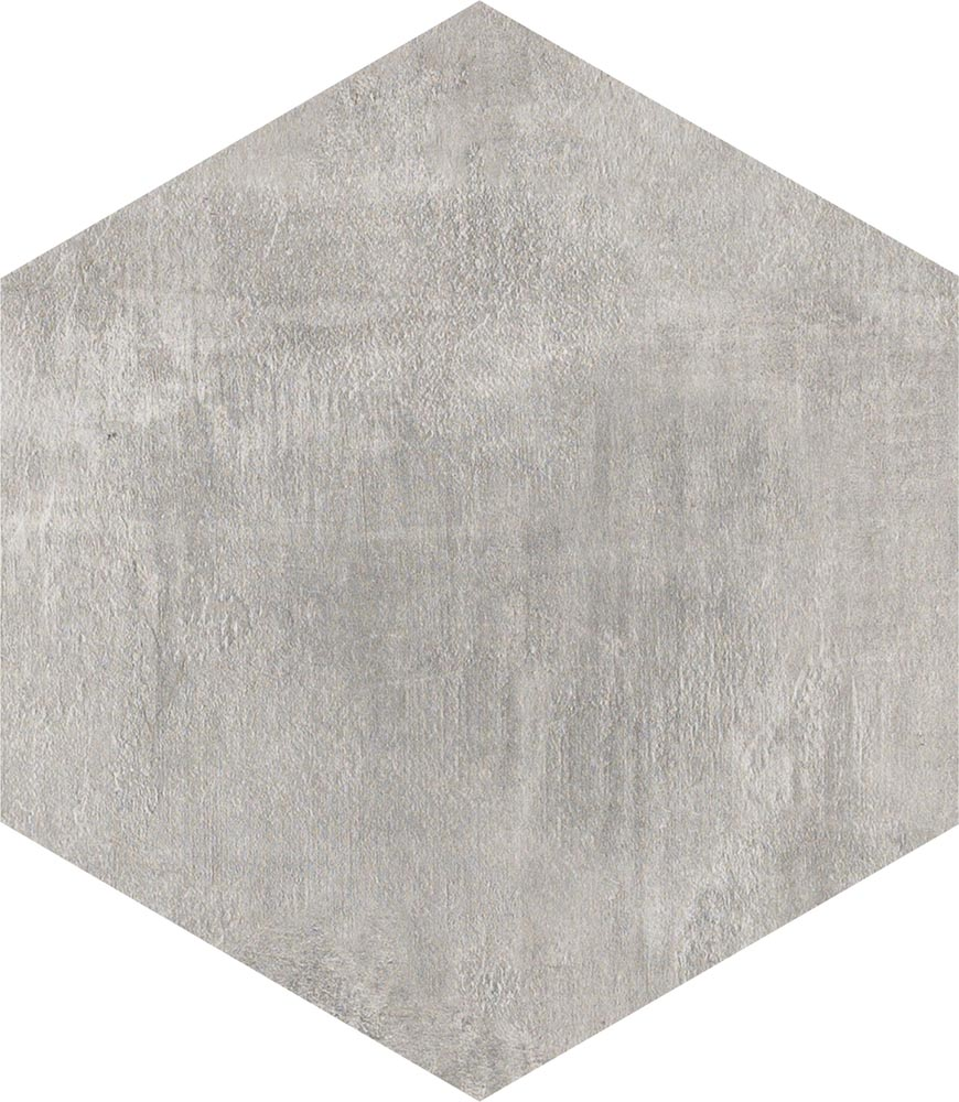 8 X 8 Icon Dove Grey hexagon porcelain tile