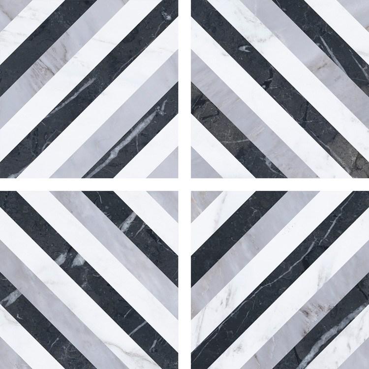 6.5 X 6.5 Velvet GEO Diamond porcelain tile