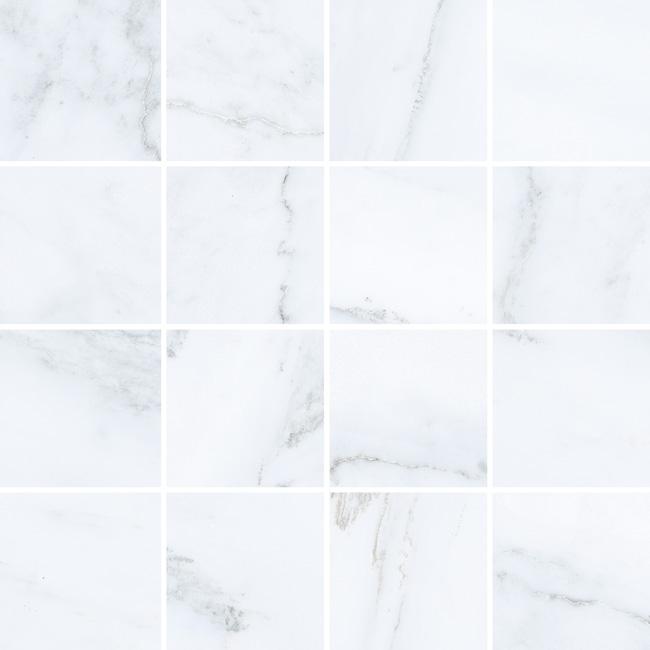 3.5 X 3.5 Velvet Blanco porcelain mosaic