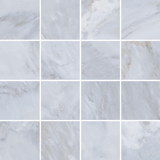 3.5 X 3.5 Velvet Gris porcelain mosaic