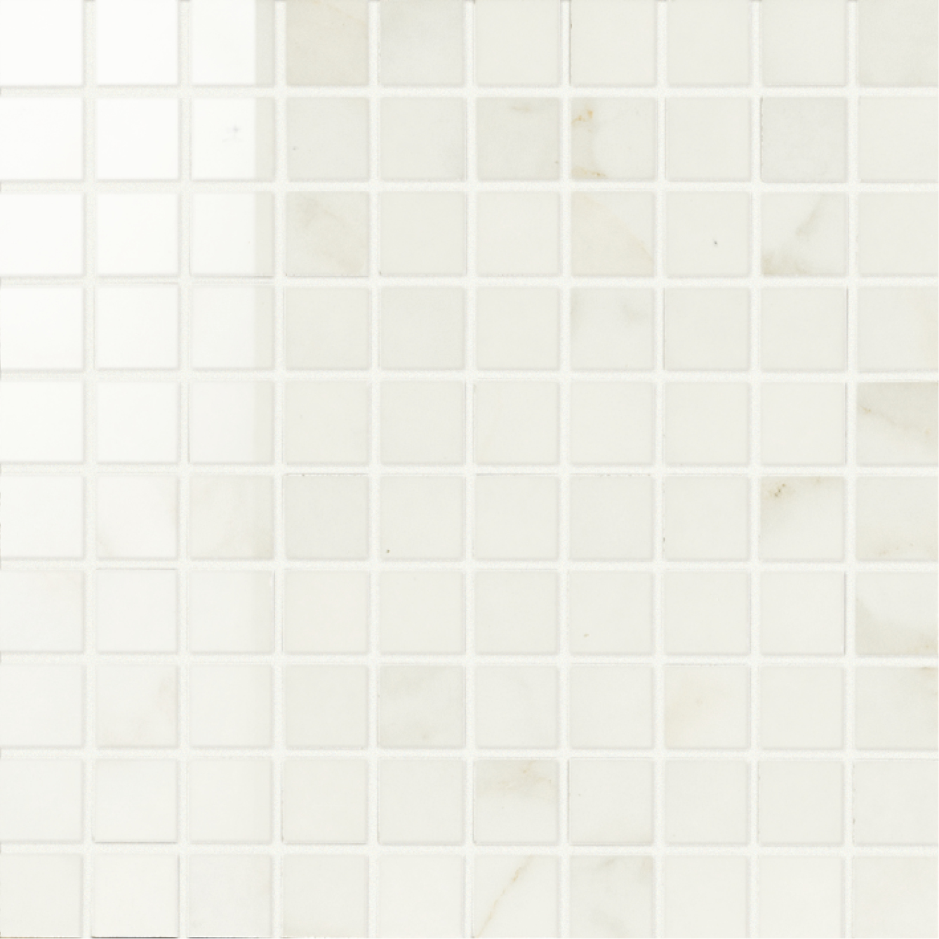 1 x 1 Muse Calacatta High Polished porcelain mosaic (SPECIAL ORDER ONLY)