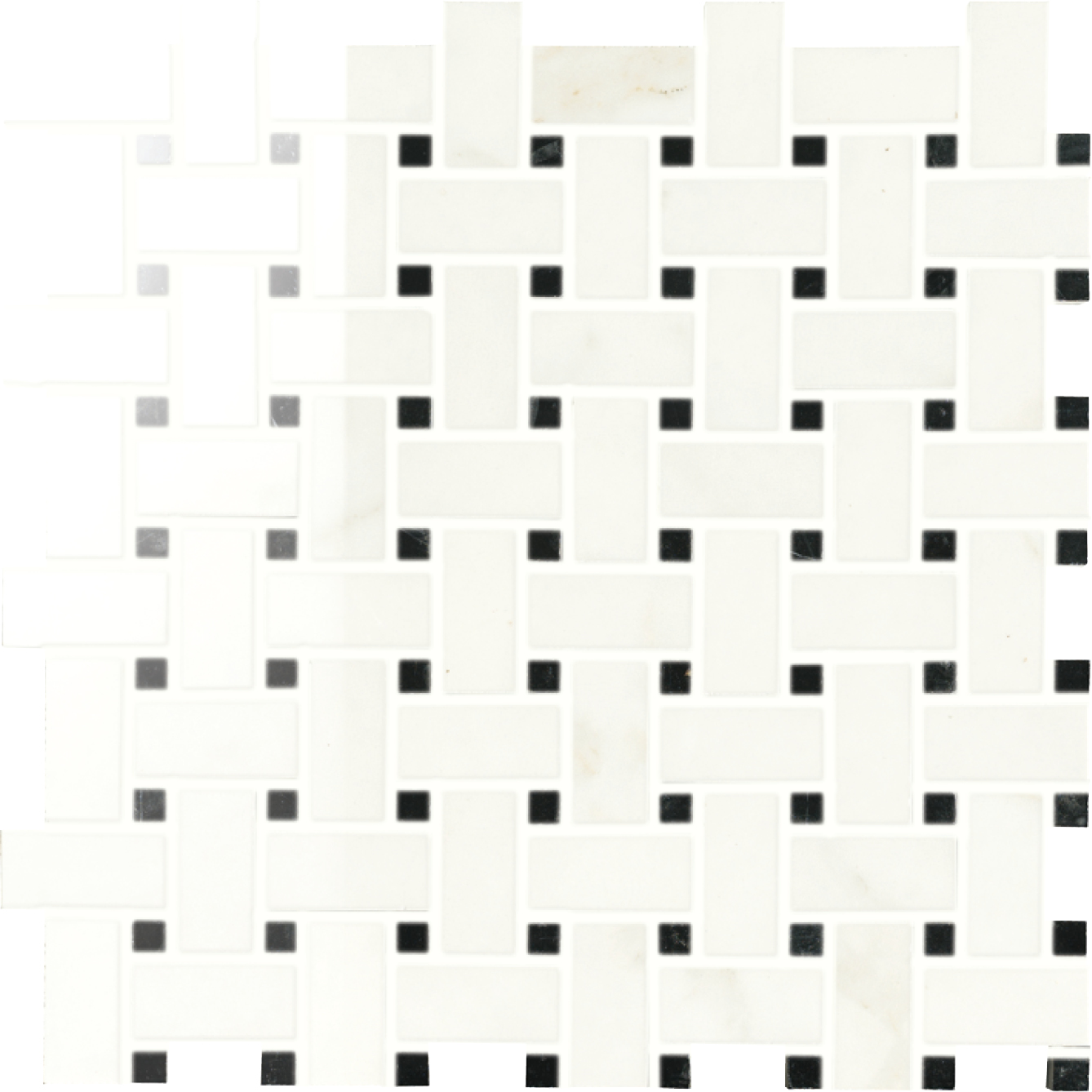 """2"""" Muse Calacatta High Polished Basket weave mosaic (SPECIAL ORDER ONLY)"""
