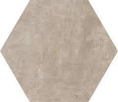 8 X 8 Icon Taupe Back hexagon porcelain tile