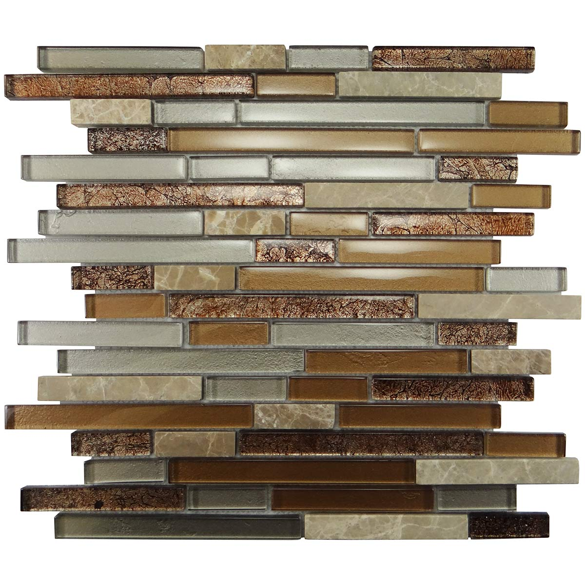 MA28-RB  RANDOM BRICK GLASS MOSAIC AND MARBLE BLEND