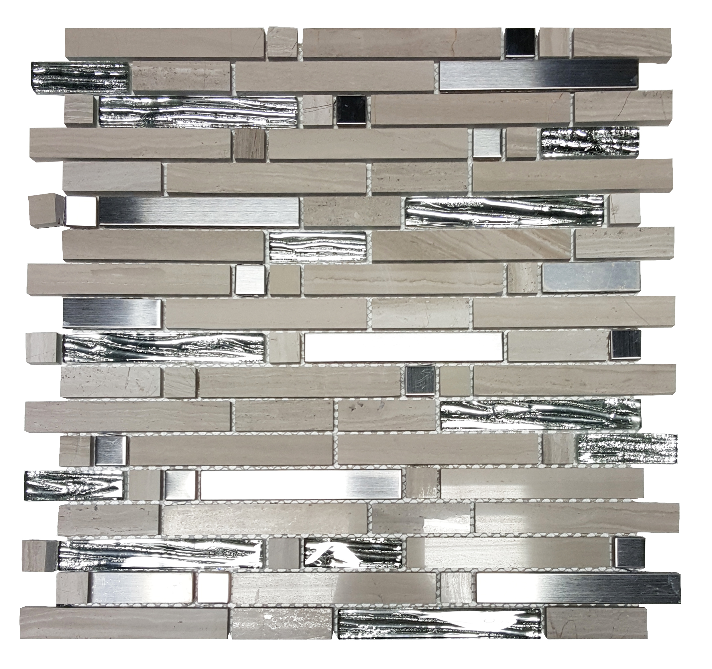 MA66-RB  RANDOM BRICK GLASS, MARBLE AND STONE MOSAIC