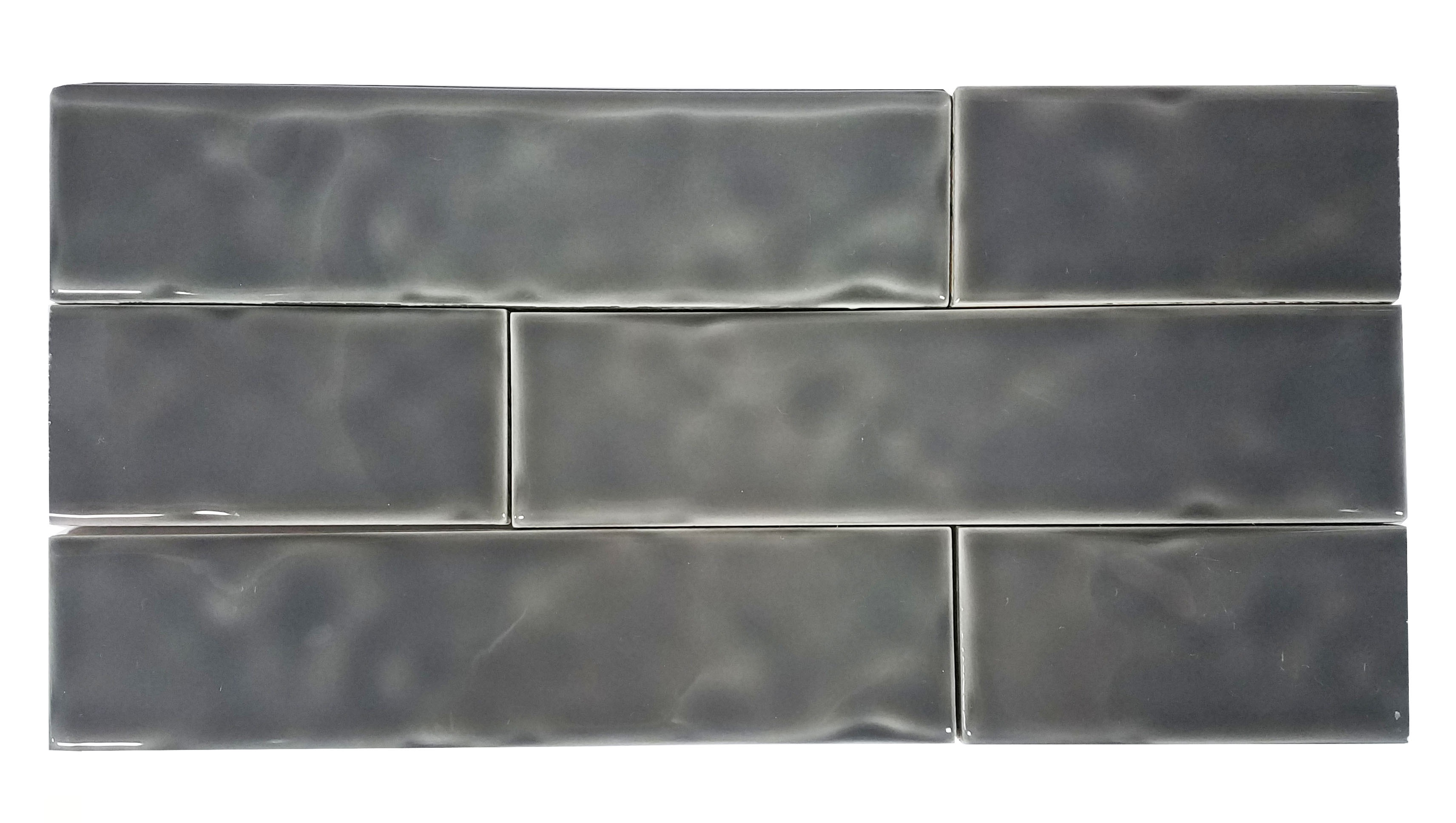 2 x 8 Chelsea Graphite Ceramic Wall subway