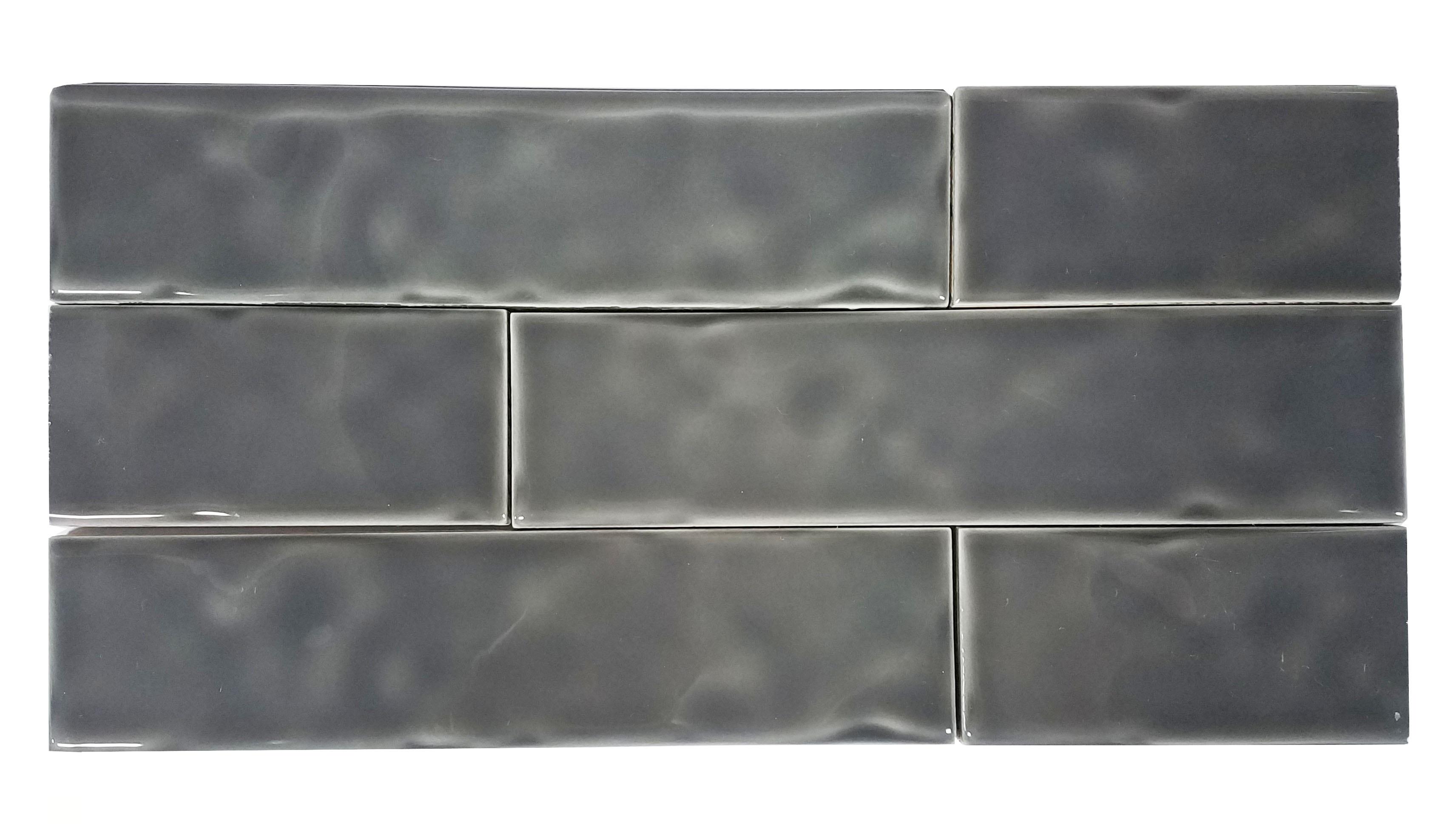 2 x 8 Chelsea Graphite Ceramic Wall subway