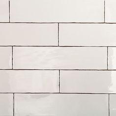 3 x 12 Atelier  White Ceramic Wall subway