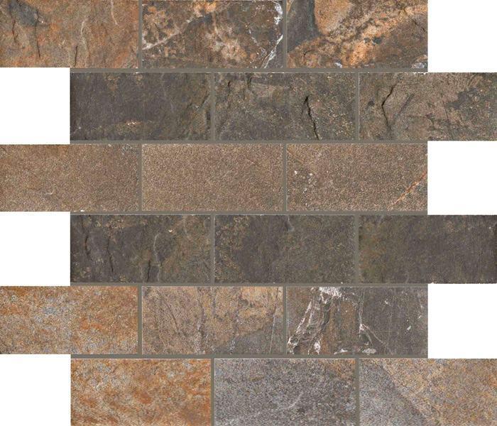 2  x 4 Natural Slate Multicolor brick