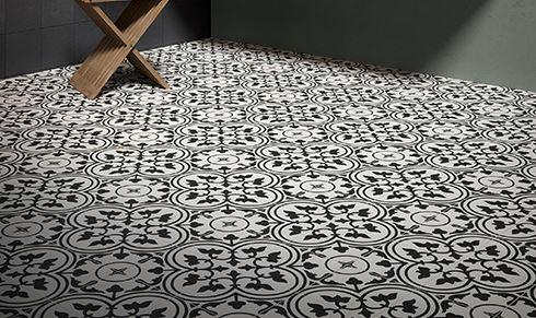Reverie Porcelain 8 x 8 Patterned Floor Tiles Decor 7-8 Square Feet