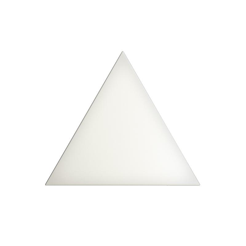 6 X 6 EVOKE TRIANGLE LAYER WHITE MATTE