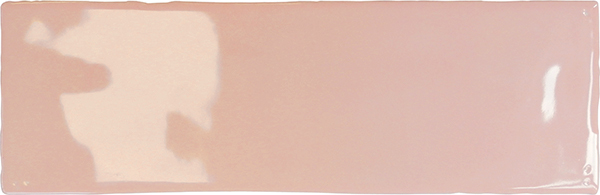 2.6 x 8 Borgo pink glossy Subway Porcelain Tile