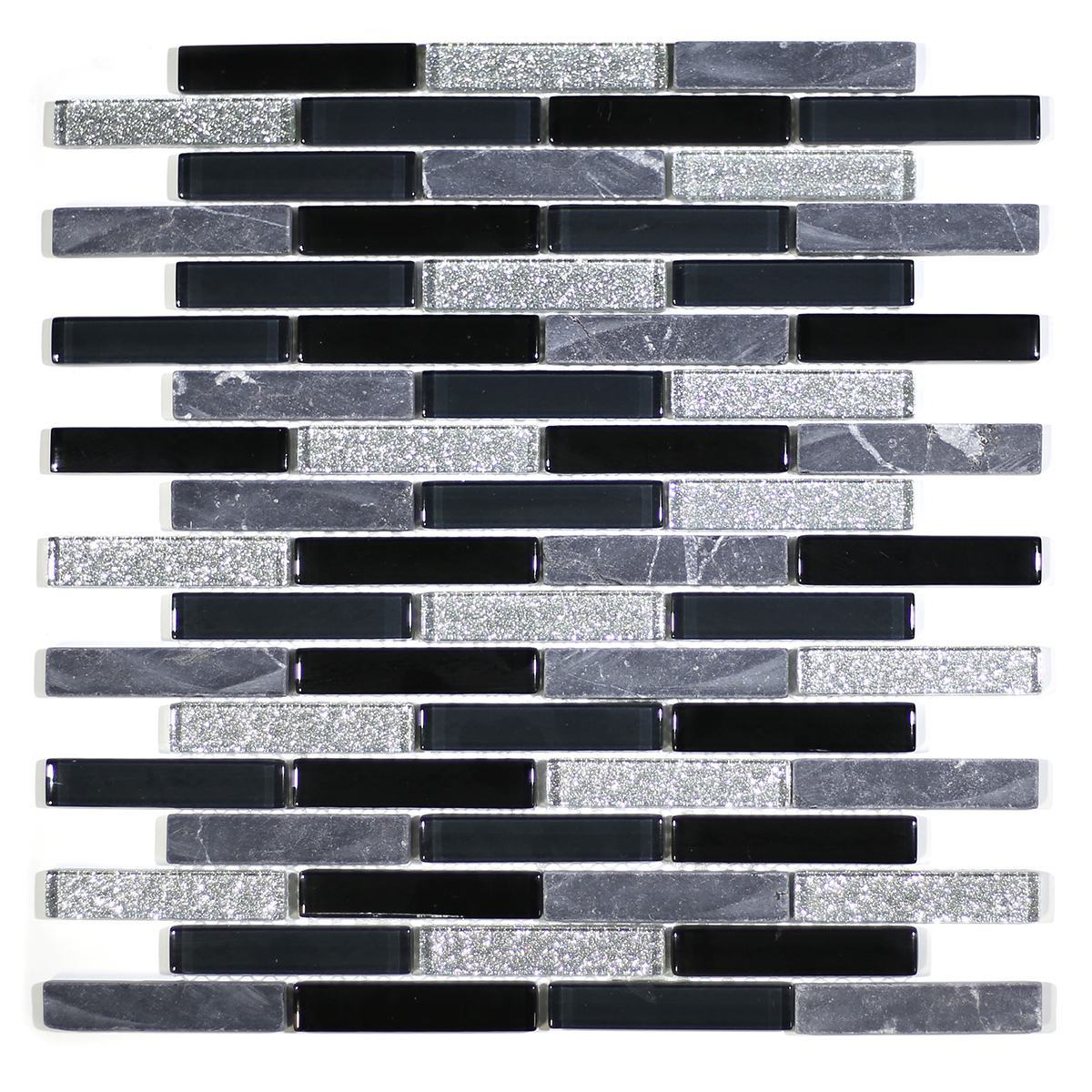 "MA05-B  3"" BRICK GLASS AND MARBLE MOSAIC BLEND"