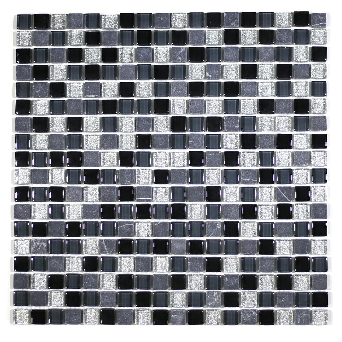 "MA05-S  5/8"" SQUARE GLASS AND MARBLE MOSAIC BLEND"
