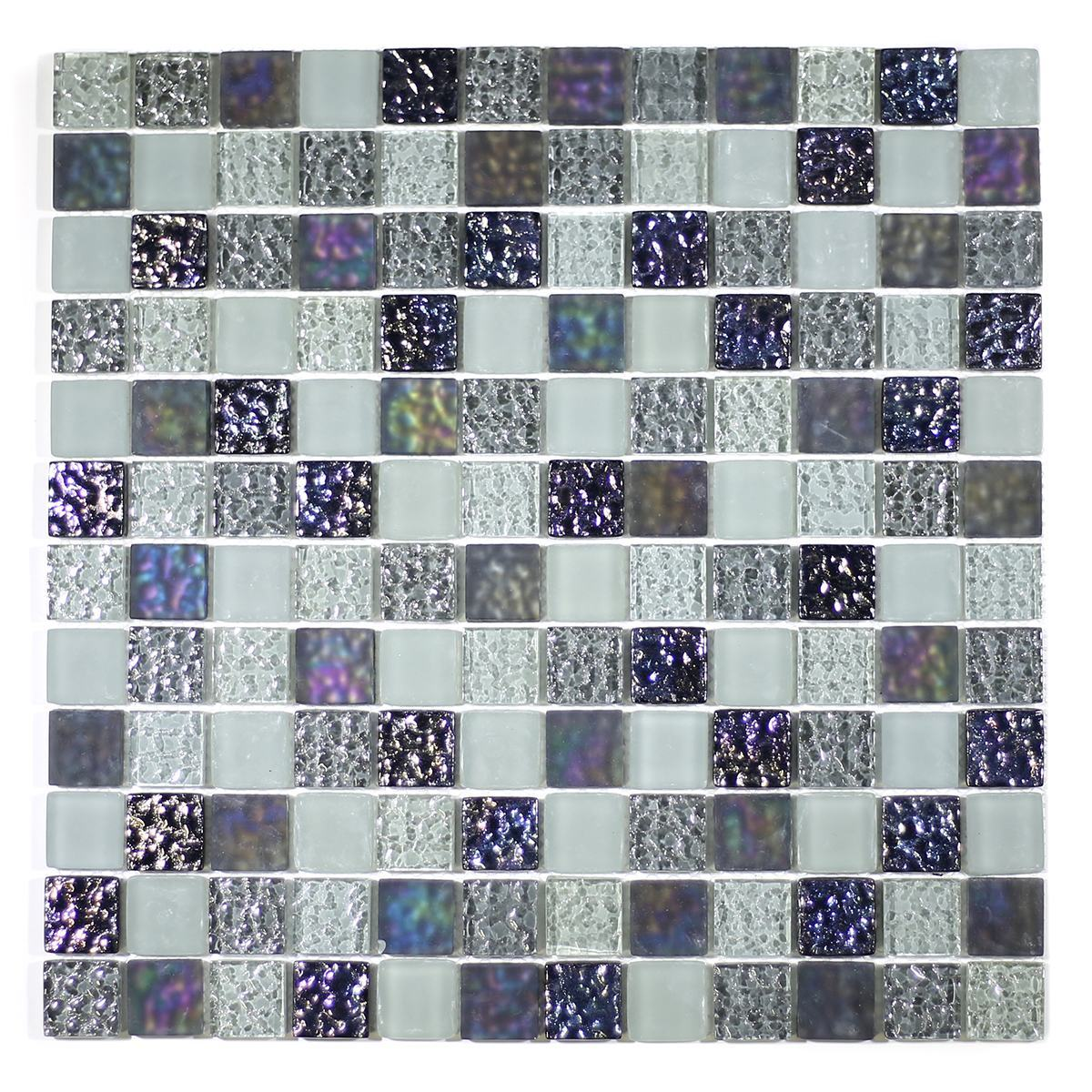 "MA08-LS  1"" SQUARE GLASS MOSAIC BLEND"