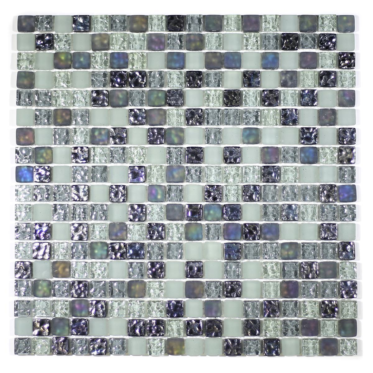 "MA08-S  5/8"" SQUARE GLASS MOSAIC BLEND"