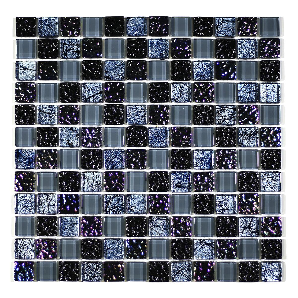 "MA09-LS  1"" SQUARE GLASS MOSAIC BLEND"
