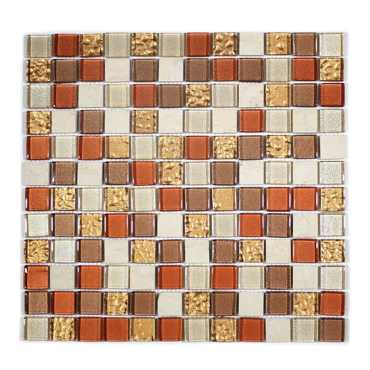 "MA06-LS  1"" SQUARE GLASS MOSAIC BLEND"
