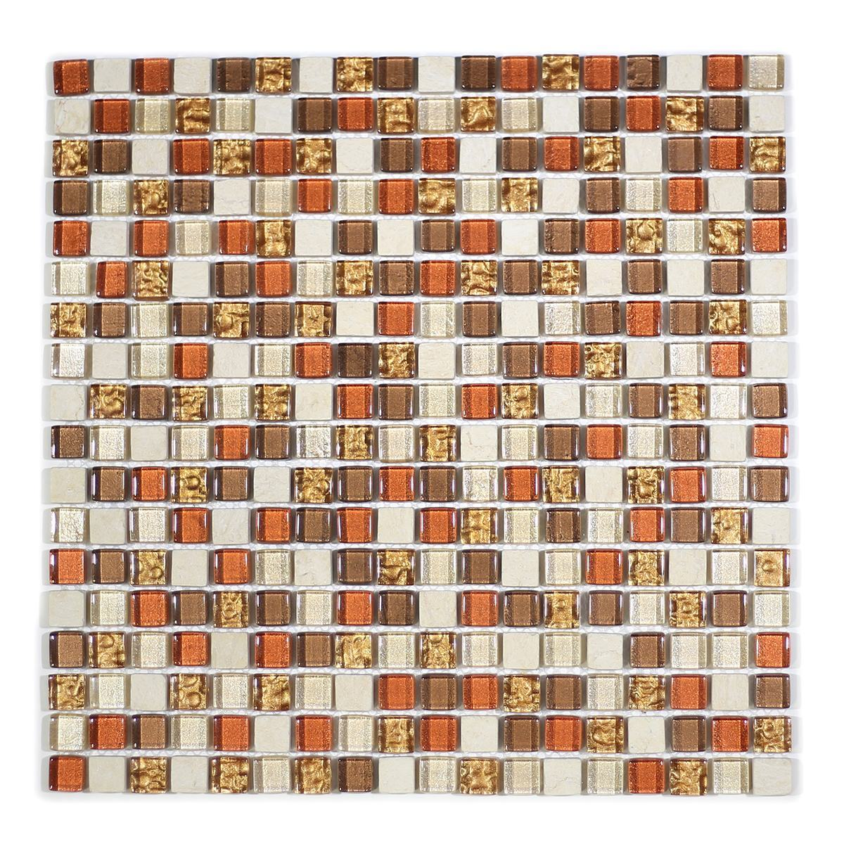 "MA06-S  5/8"" SQUARE GLASS MOSAIC BLEND"
