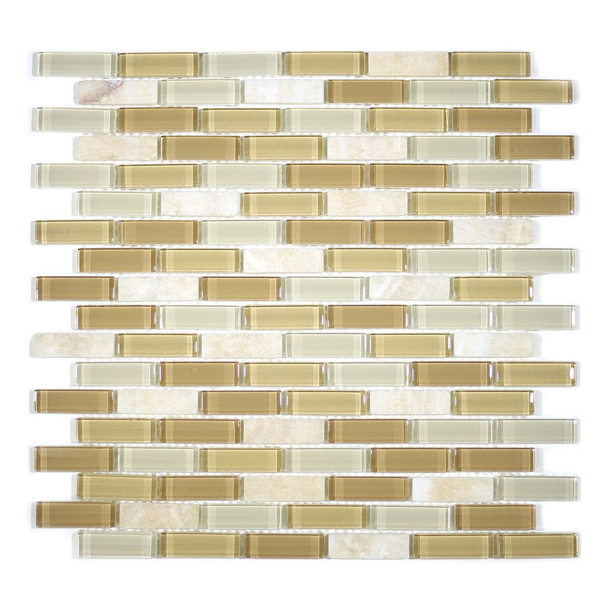 "MA12-LB 2"" BRICK GLASS AND STONE MOSAIC BLEND"